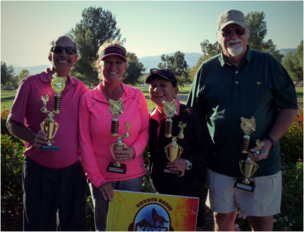 KOYT 1st annual Howl-in-One Golf tournament 1st place team Pink Turkey